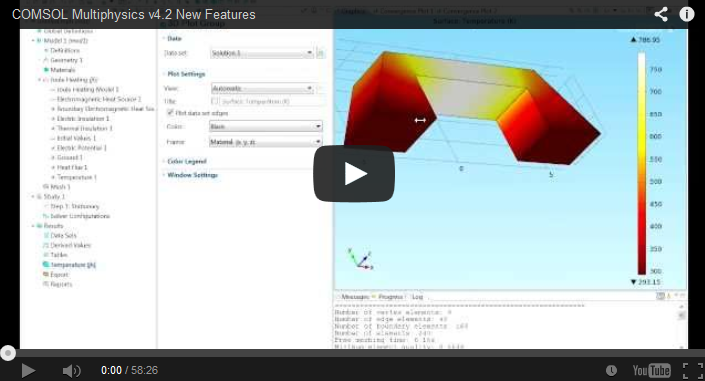 COMSOL Multiphysics v4.2 New Features Video | COMSOL Blog