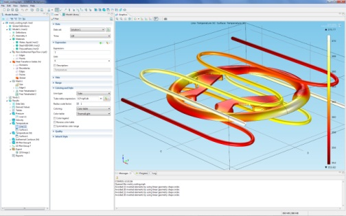Steering wheel mold in COMSOL Multiphysics