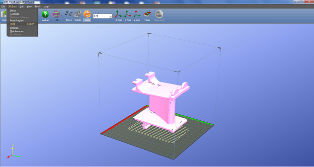 Printing a COMSOL model with 3D printer