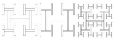 Fractal geometry: Repeating H pattern