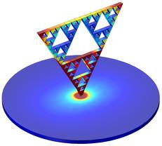 Model of a Sierpinski fractal monopole antenna
