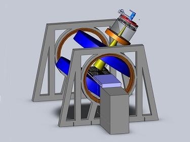Linac-MR system's longitudinal rotating biplanar geometry
