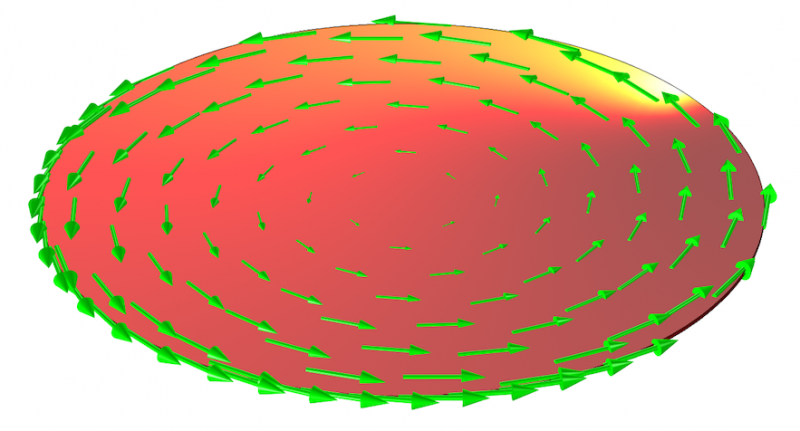 Silicon wafer modeled with COMSOL Multiphysi