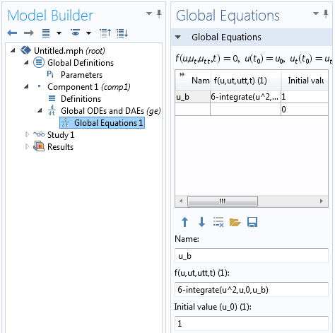 Screenshot of altering the Global Equation to solve for the upper limit of the integral