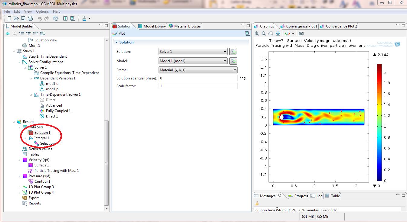 Data set solution variables