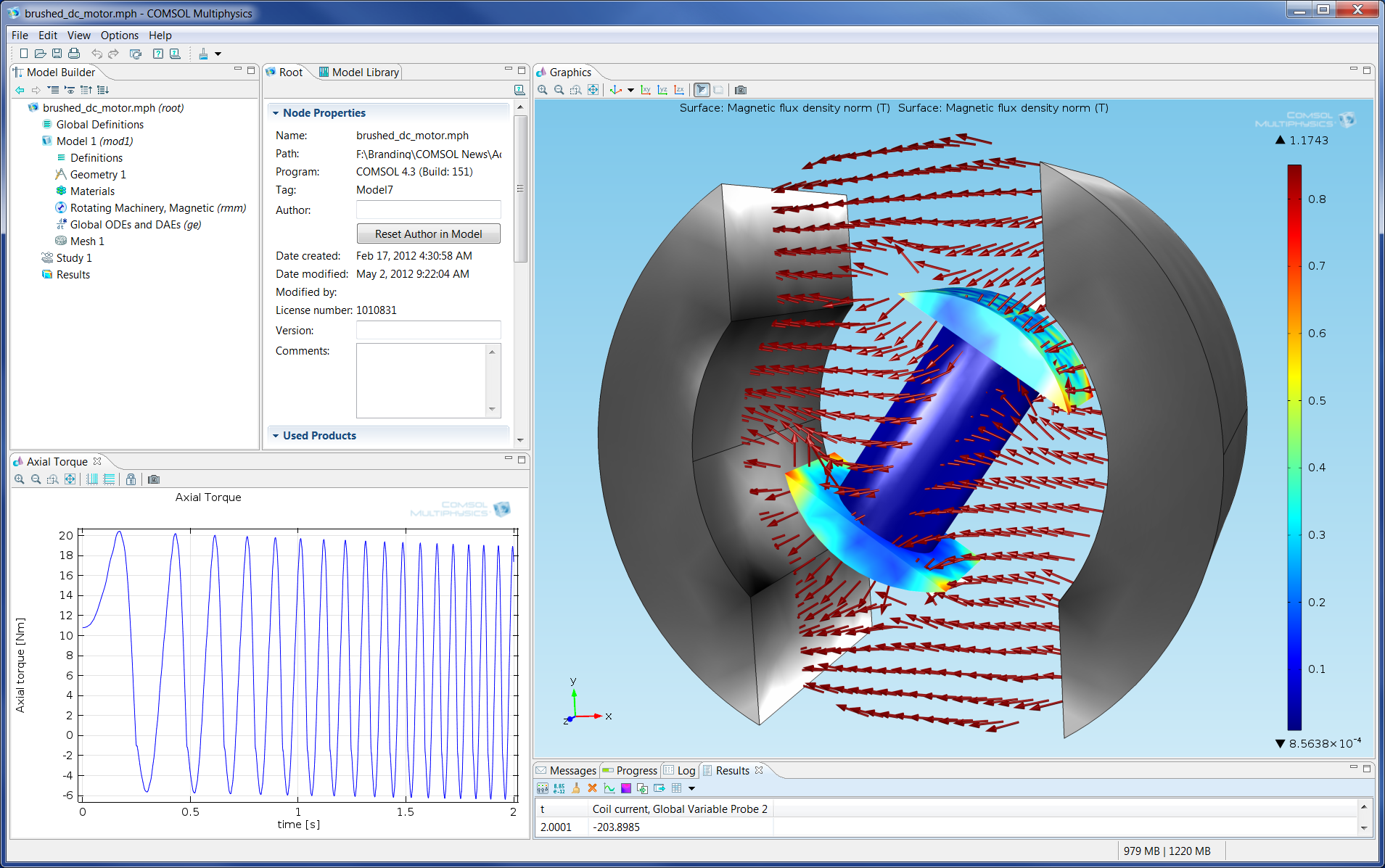 Image Gallery Comsol Multiphysics Version 4 3