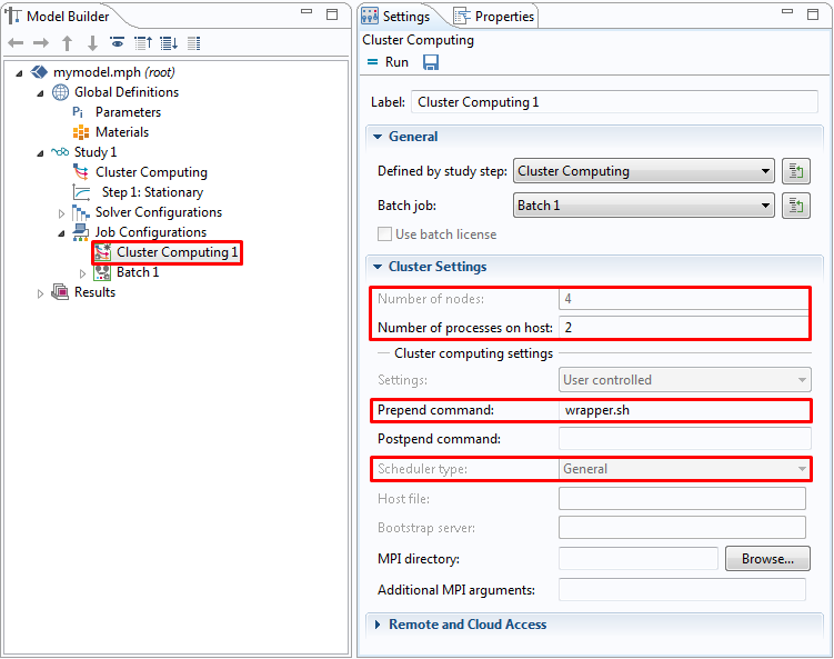 Running COMSOL® in parallel on clusters - 1001 - Knowledge Base