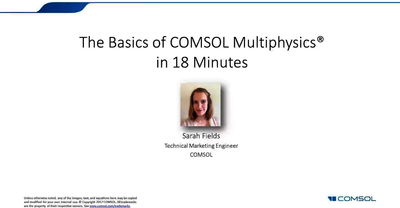 A First Look at COMSOL Multiphysics
