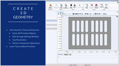 Introductory Video Series on How to Build Geometries in COMSOL®